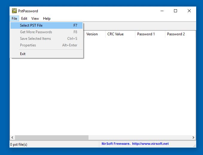 Remover a senha do arquivo PST do Outlook