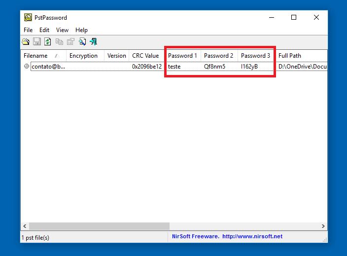 Como remover a senha de um arquivo PST do Outlook