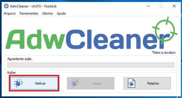 Como remover propagandas do navegador - AdwCleaner