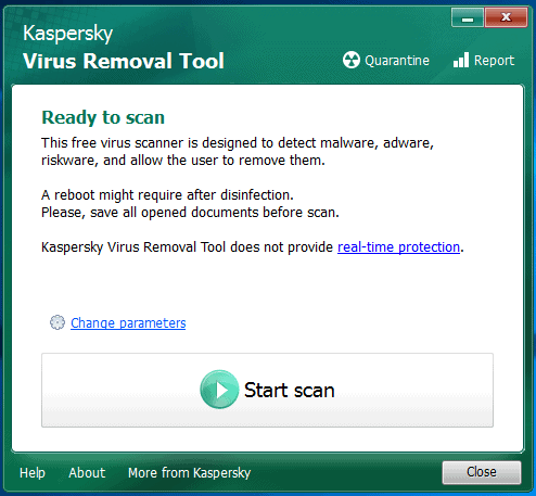 Kaspersky Removal Tool - Como tirar vírus do PC
